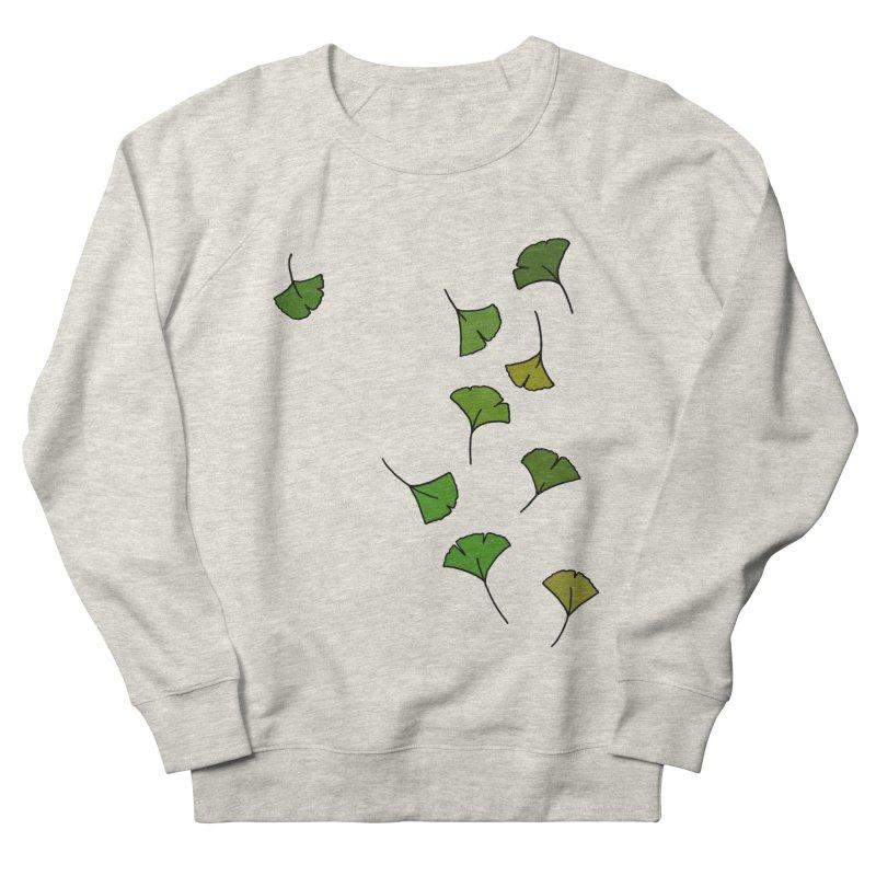 Ginkgo Leaves Men's French Terry Sweatshirt by LadyBaigStudio's Artist Shop