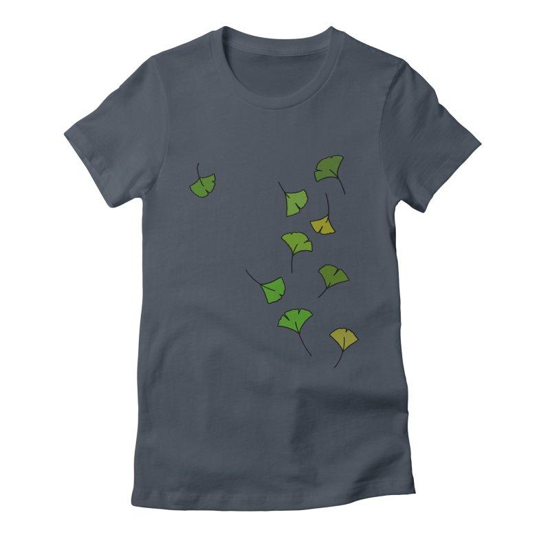 Ginkgo Leaves Women's T-Shirt by LadyBaigStudio's Artist Shop