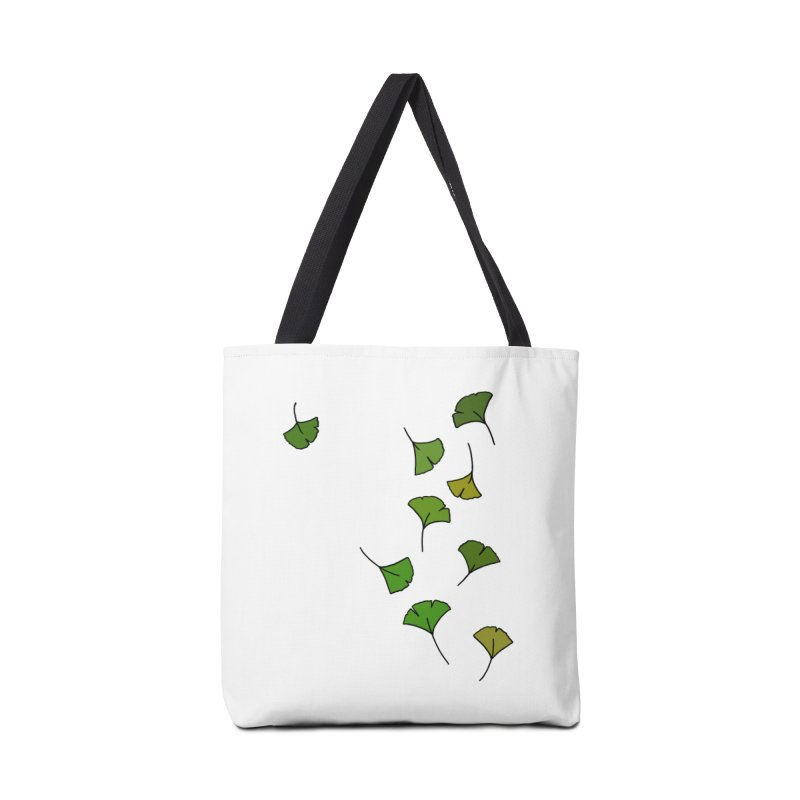 Ginkgo Leaves Accessories Bag by LadyBaigStudio's Artist Shop