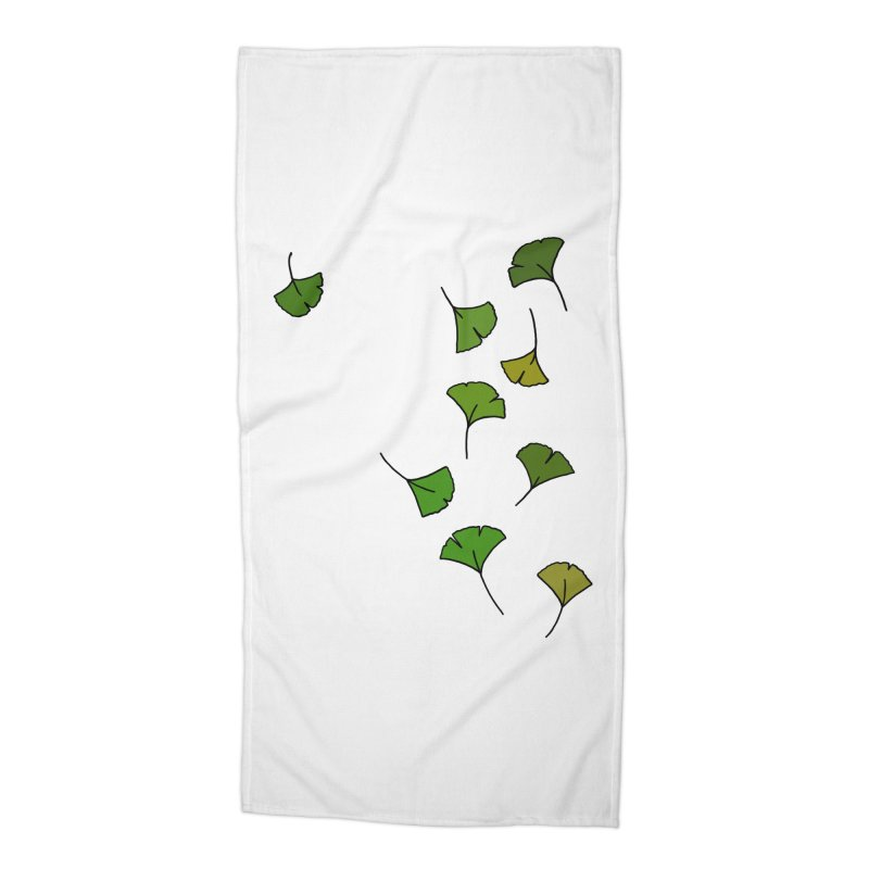 Ginkgo Leaves Accessories Beach Towel by LadyBaigStudio's Artist Shop
