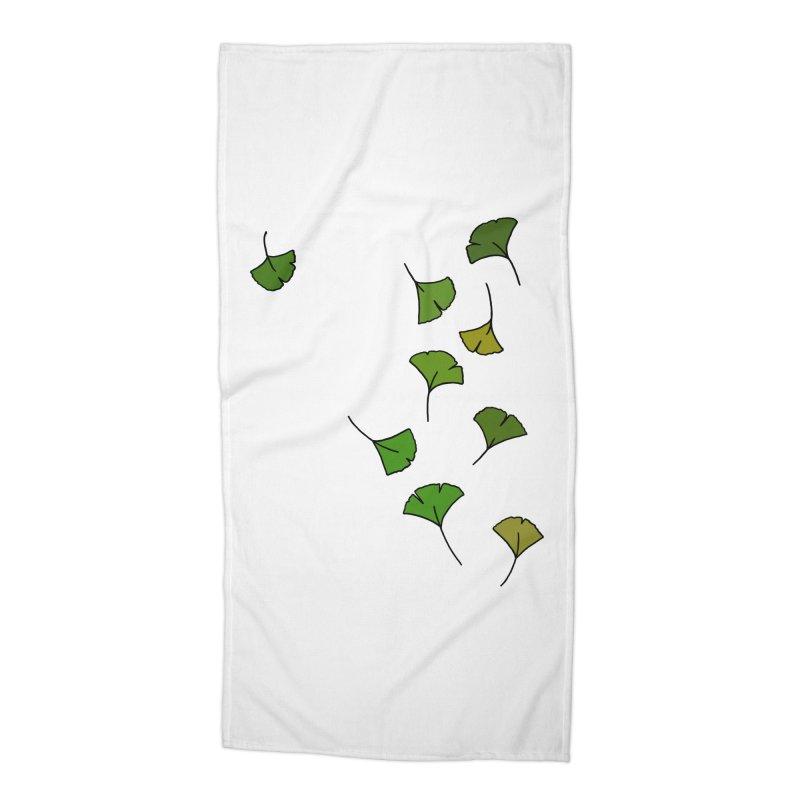 Ginkgo Leaves Accessories Beach Towel by LadyBaigStudio's Artist Shop