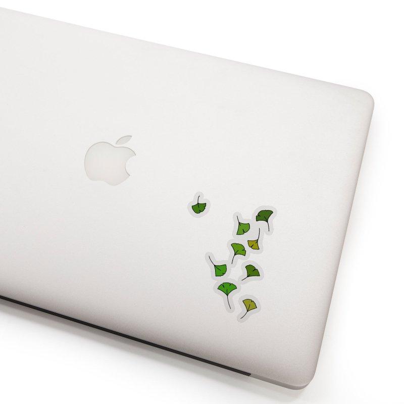 Ginkgo Leaves Accessories Sticker by LadyBaigStudio's Artist Shop