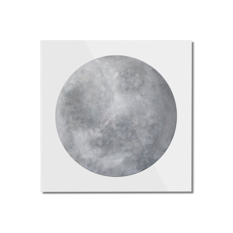 Full Moon Home Mounted Acrylic Print by LadyBaigStudio's Artist Shop