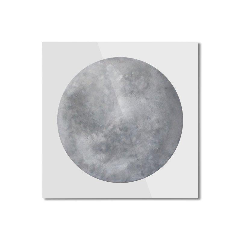 Full Moon Home Mounted Aluminum Print by LadyBaigStudio's Artist Shop