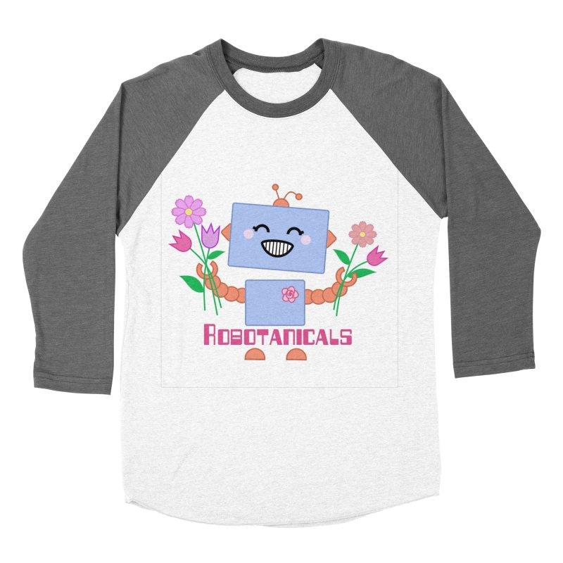 Robotanicals Women's Baseball Triblend Longsleeve T-Shirt by LadyBaigStudio's Artist Shop