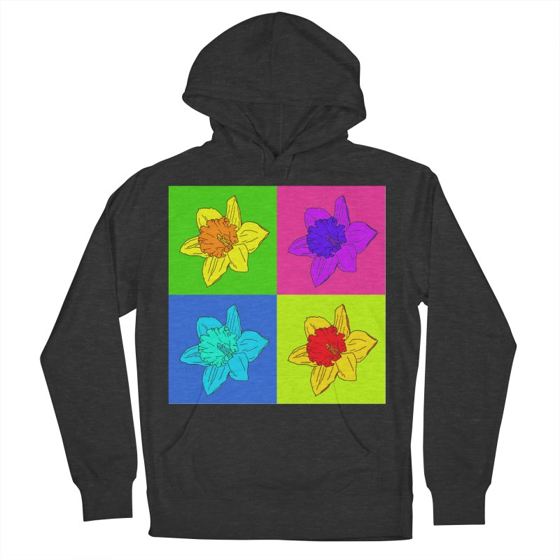 Warhol Daffodils Men's French Terry Pullover Hoody by LadyBaigStudio's Artist Shop