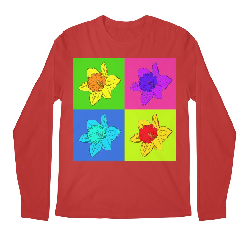 Warhol Daffodils Men's Regular Longsleeve T-Shirt by LadyBaigStudio's Artist Shop