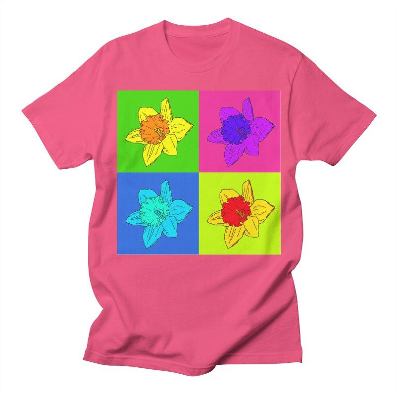 Warhol Daffodils Men's Regular T-Shirt by LadyBaigStudio's Artist Shop