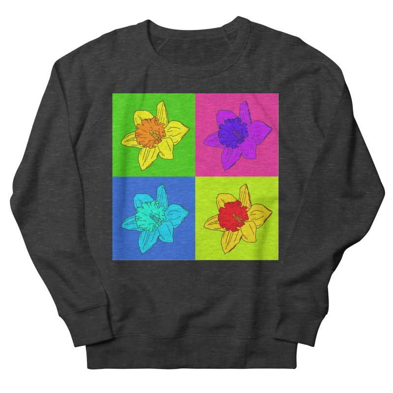 Warhol Daffodils Men's French Terry Sweatshirt by LadyBaigStudio's Artist Shop