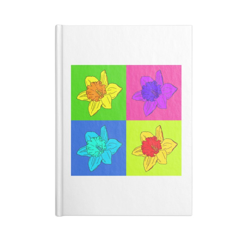 Warhol Daffodils Accessories Blank Journal Notebook by LadyBaigStudio's Artist Shop