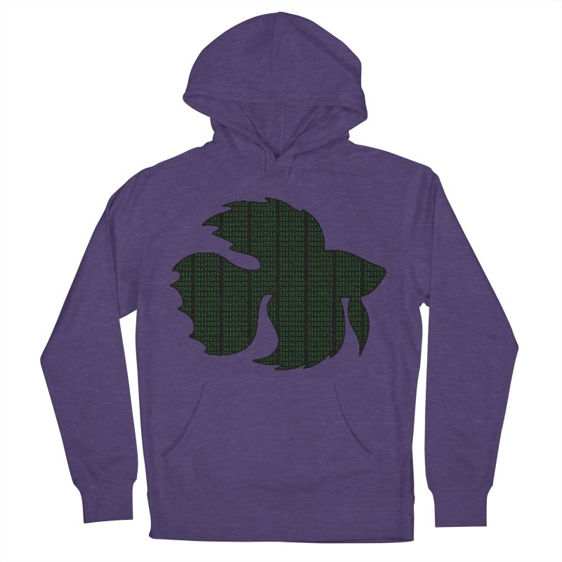 Beta Fish Men's French Terry Pullover Hoody by LadyBaigStudio's Artist Shop