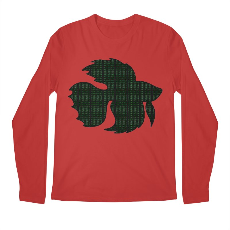 Beta Fish Men's Regular Longsleeve T-Shirt by LadyBaigStudio's Artist Shop