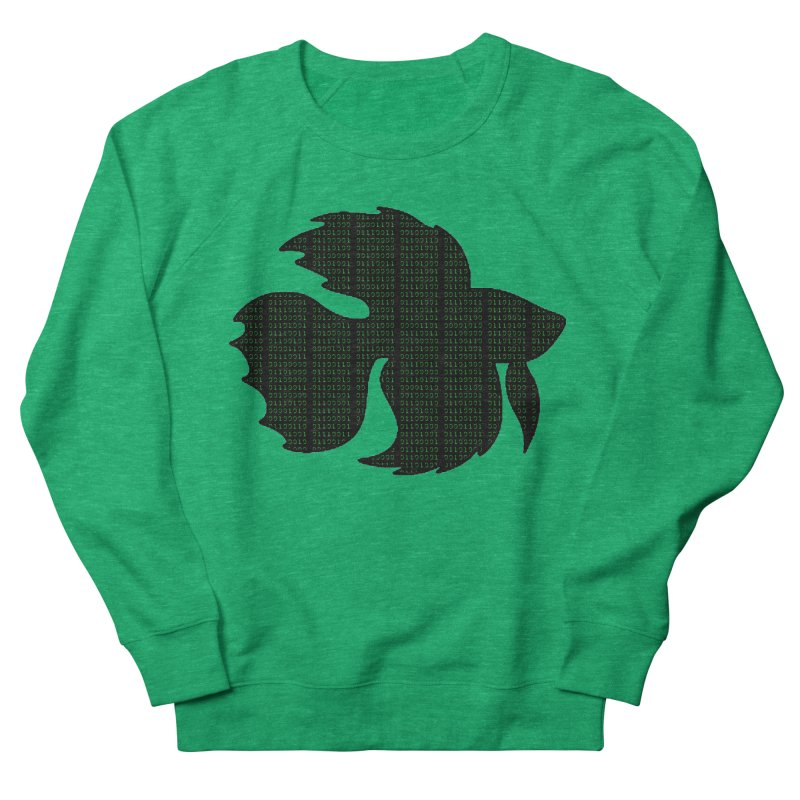 Beta Fish Men's French Terry Sweatshirt by LadyBaigStudio's Artist Shop