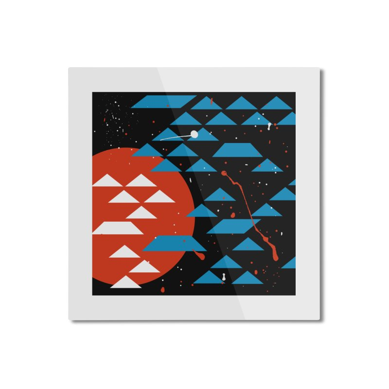 Geometric Galaxy Home Mounted Aluminum Print by LadyBaigStudio's Artist Shop