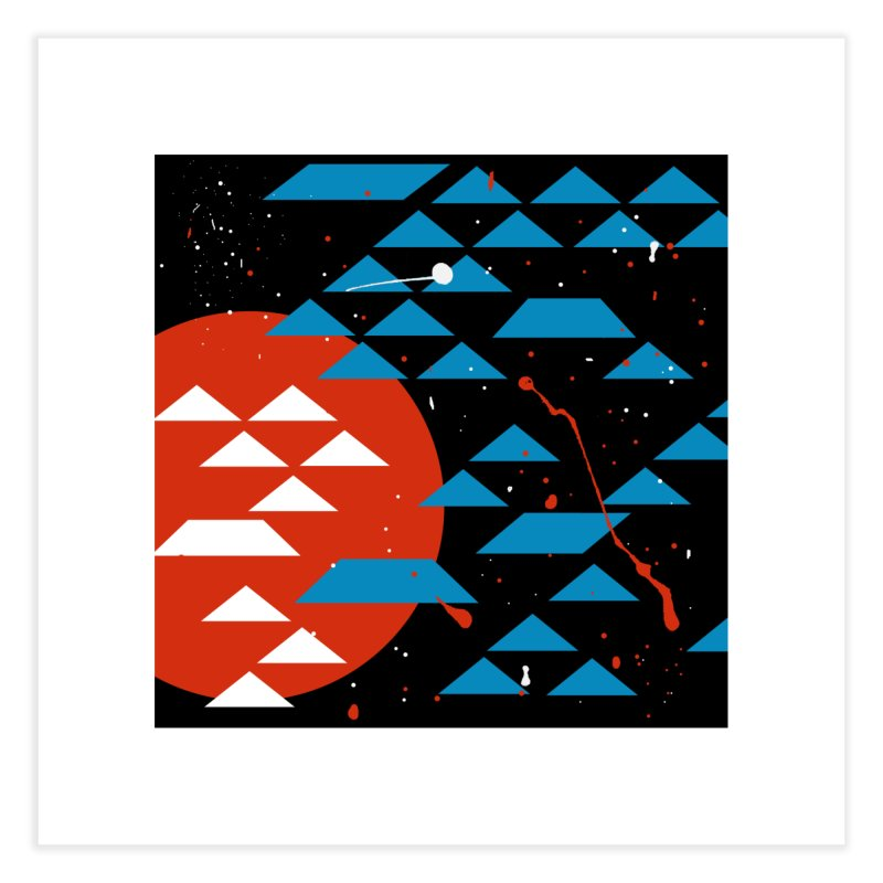 Geometric Galaxy Home Fine Art Print by LadyBaigStudio's Artist Shop