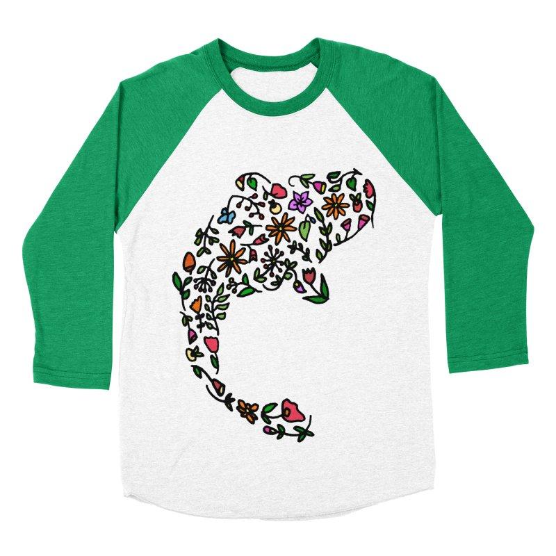 Floral Koi Fish Women's Baseball Triblend Longsleeve T-Shirt by LadyBaigStudio's Artist Shop