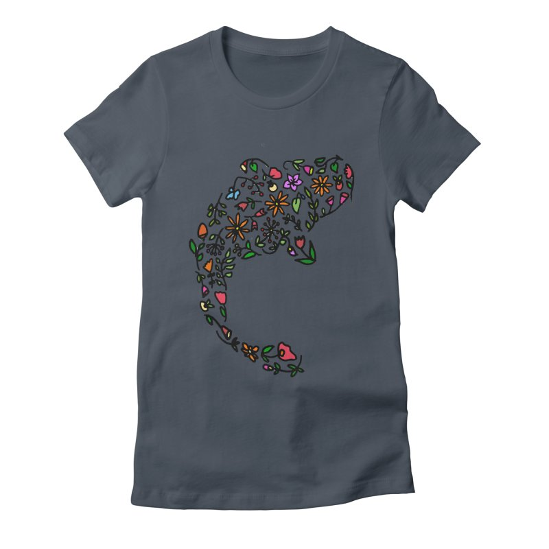 Floral Koi Fish Women's Fitted T-Shirt by LadyBaigStudio's Artist Shop