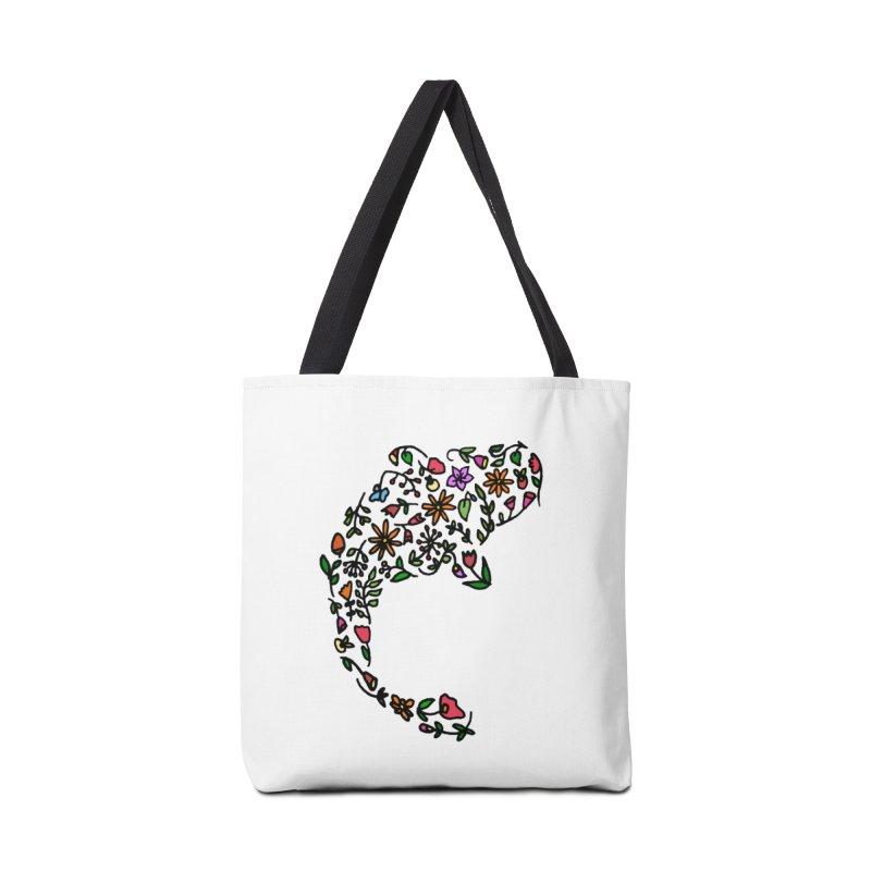 Floral Koi Fish Accessories Tote Bag Bag by LadyBaigStudio's Artist Shop