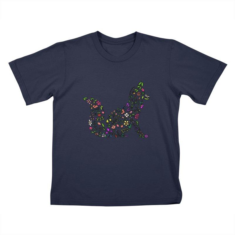 Floral Fox Kids T-Shirt by LadyBaigStudio's Artist Shop