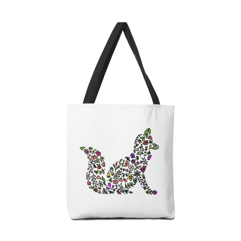 Floral Fox Accessories Bag by LadyBaigStudio's Artist Shop