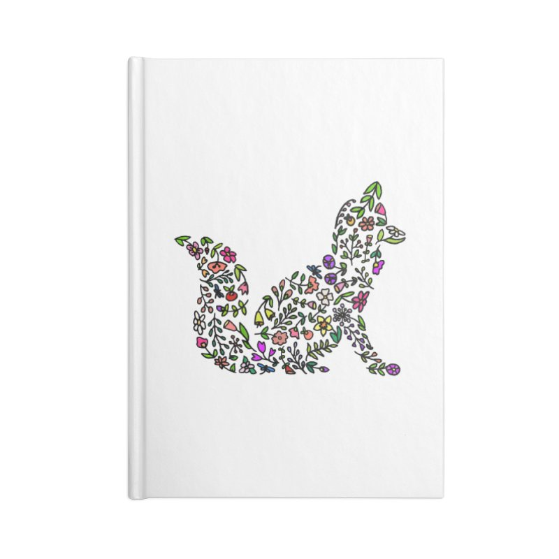 Floral Fox Accessories Blank Journal Notebook by LadyBaigStudio's Artist Shop