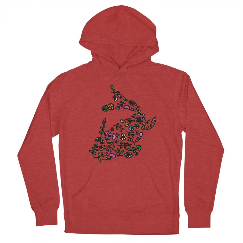 Floral Koi Fish 2 Women's French Terry Pullover Hoody by LadyBaigStudio's Artist Shop