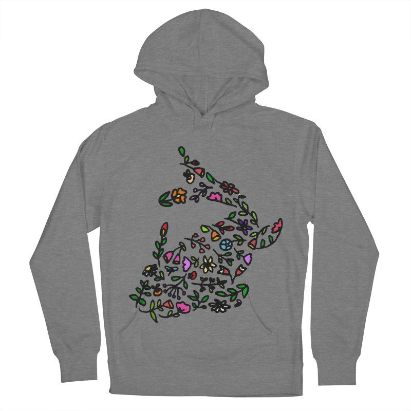 Floral Koi Fish 2 Men's French Terry Pullover Hoody by LadyBaigStudio's Artist Shop