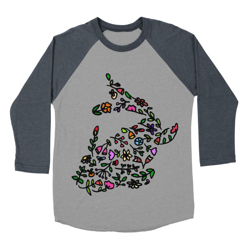 Floral Koi Fish 2 Women's Baseball Triblend Longsleeve T-Shirt by LadyBaigStudio's Artist Shop