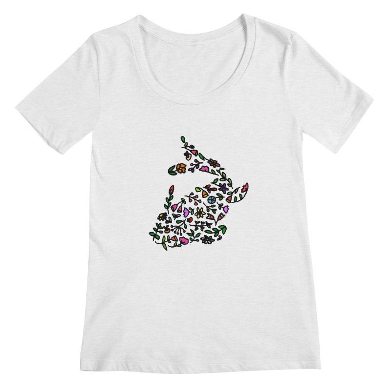 Floral Koi Fish 2 Women's Regular Scoop Neck by LadyBaigStudio's Artist Shop