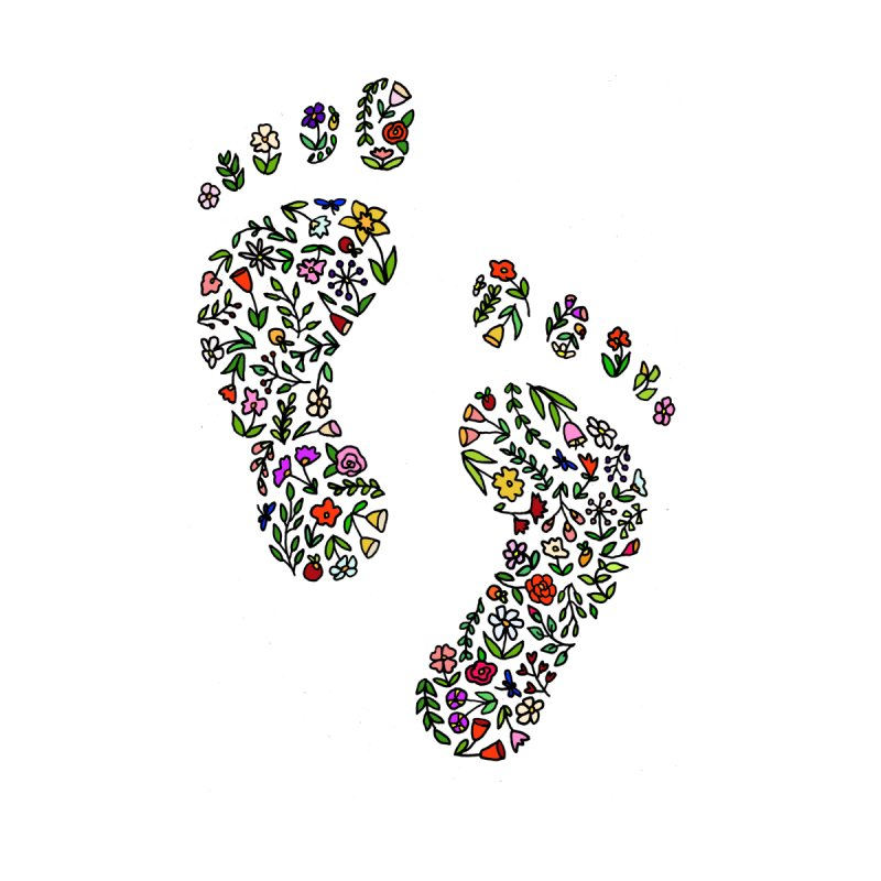 Floral Footprints by LadyBaigStudio's Artist Shop
