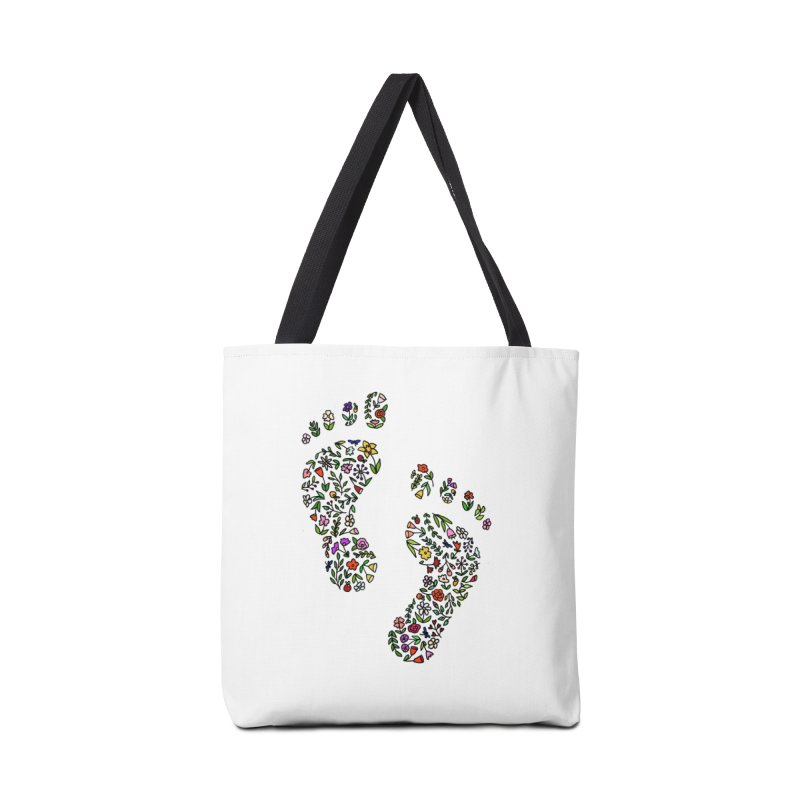 Floral Footprints Accessories Bag by LadyBaigStudio's Artist Shop