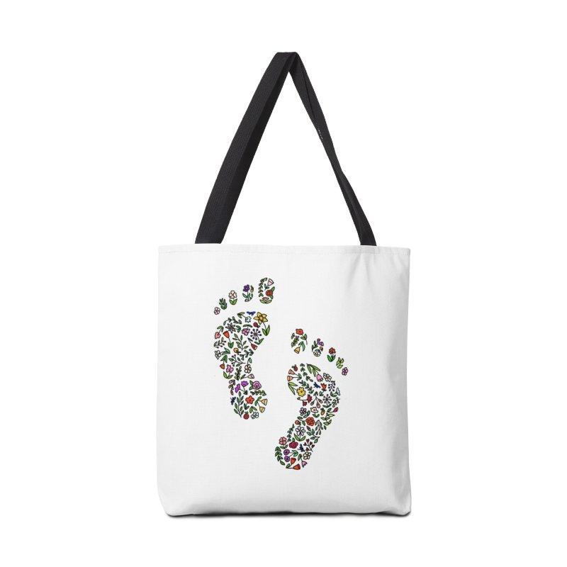 Floral Footprints Accessories Bag by LadyBaigStudio's Artist Shop