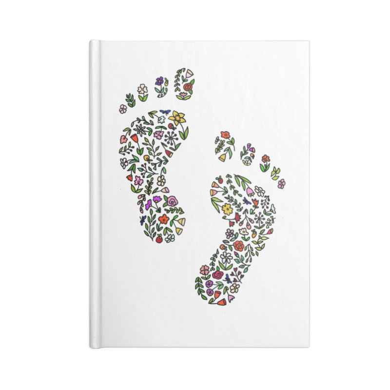 Floral Footprints Accessories Blank Journal Notebook by LadyBaigStudio's Artist Shop