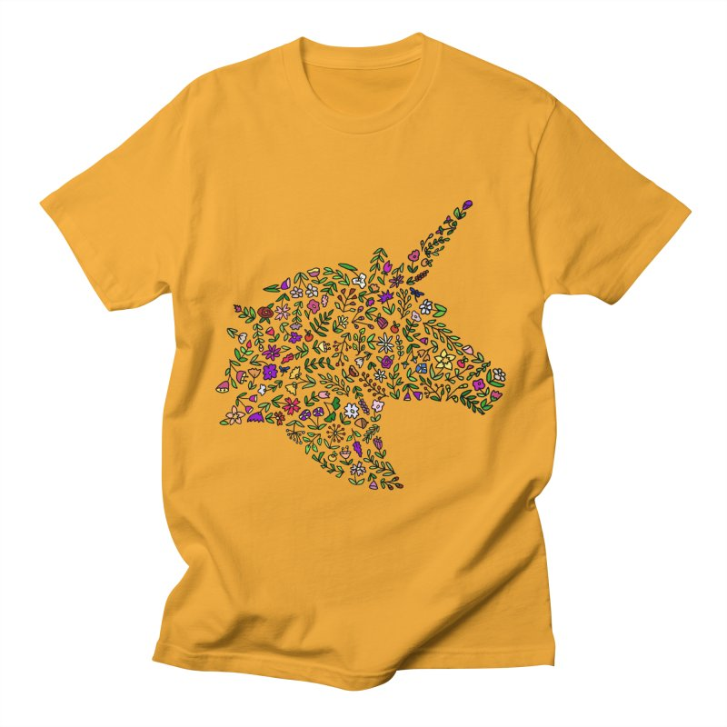 Floral Unicorn Men's T-Shirt by LadyBaigStudio's Artist Shop
