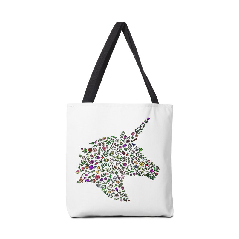 Floral Unicorn Accessories Bag by LadyBaigStudio's Artist Shop