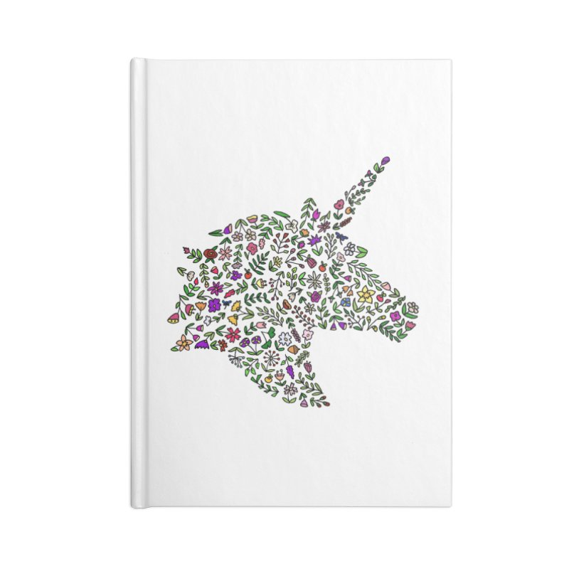 Floral Unicorn Accessories Blank Journal Notebook by LadyBaigStudio's Artist Shop