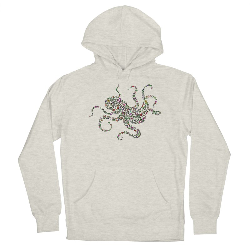 Floral Octopus Men's Pullover Hoody by LadyBaigStudio's Artist Shop