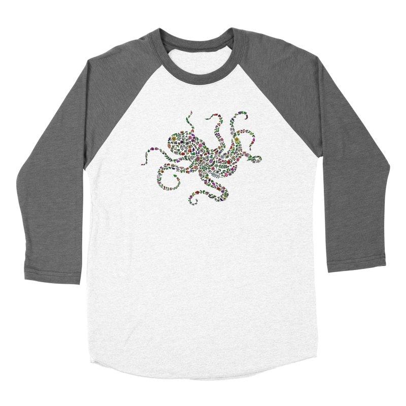 Floral Octopus Women's Longsleeve T-Shirt by LadyBaigStudio's Artist Shop