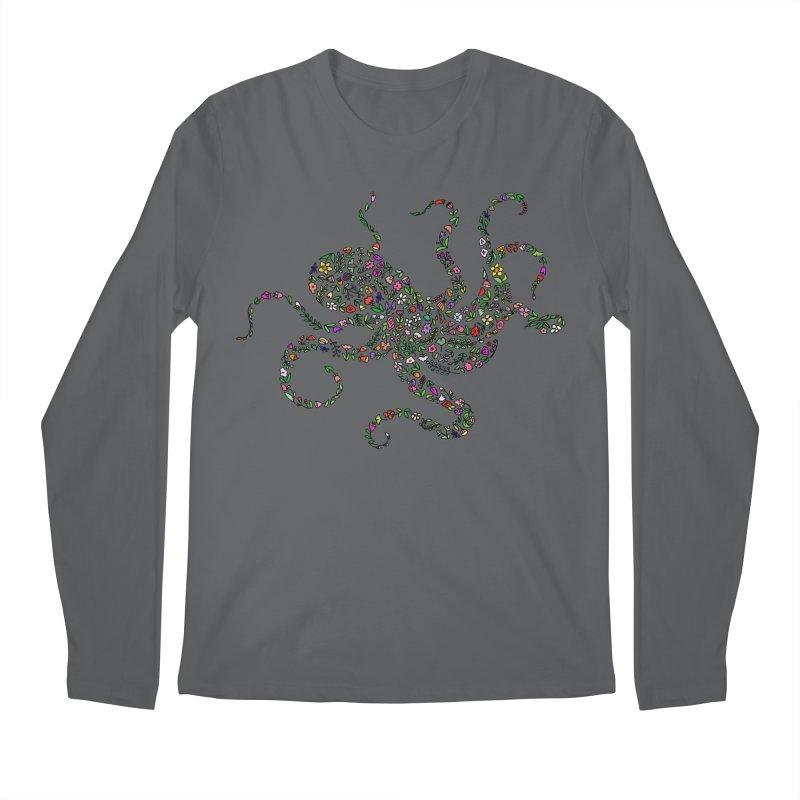 Floral Octopus Men's Longsleeve T-Shirt by LadyBaigStudio's Artist Shop