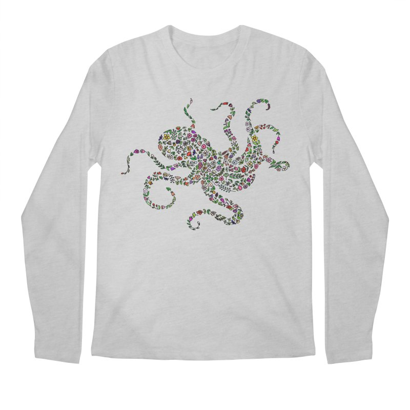 Floral Octopus Men's Longsleeve T-Shirt by LadyBaigStudio's Artist Shop