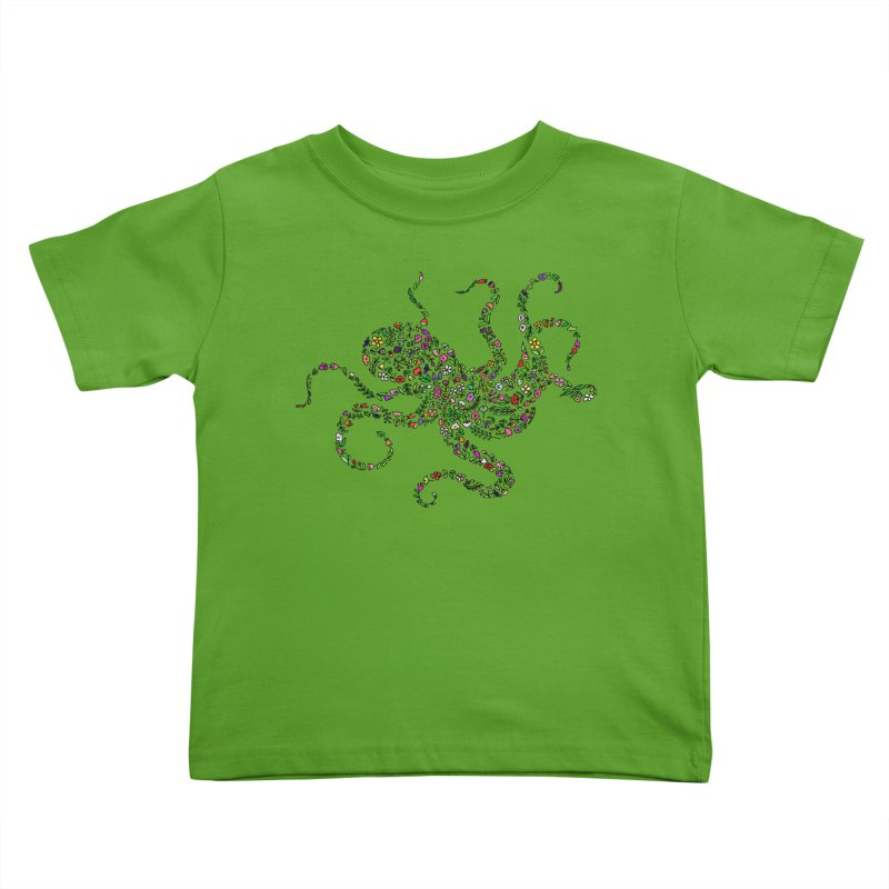 Floral Octopus Kids Toddler T-Shirt by LadyBaigStudio's Artist Shop