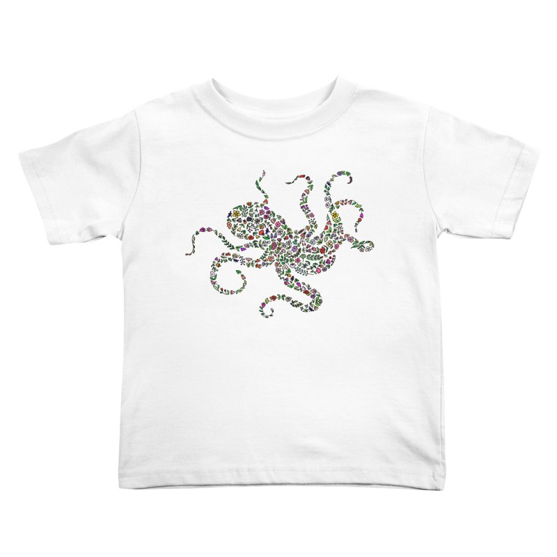 Floral Octopus Kids Toddler T-Shirt by LadyBaigStudio's Artist Shop