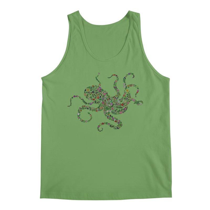 Floral Octopus Men's Tank by LadyBaigStudio's Artist Shop