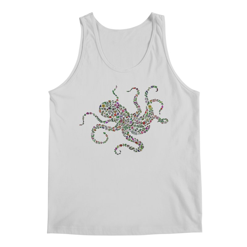 Floral Octopus Men's Regular Tank by LadyBaigStudio's Artist Shop