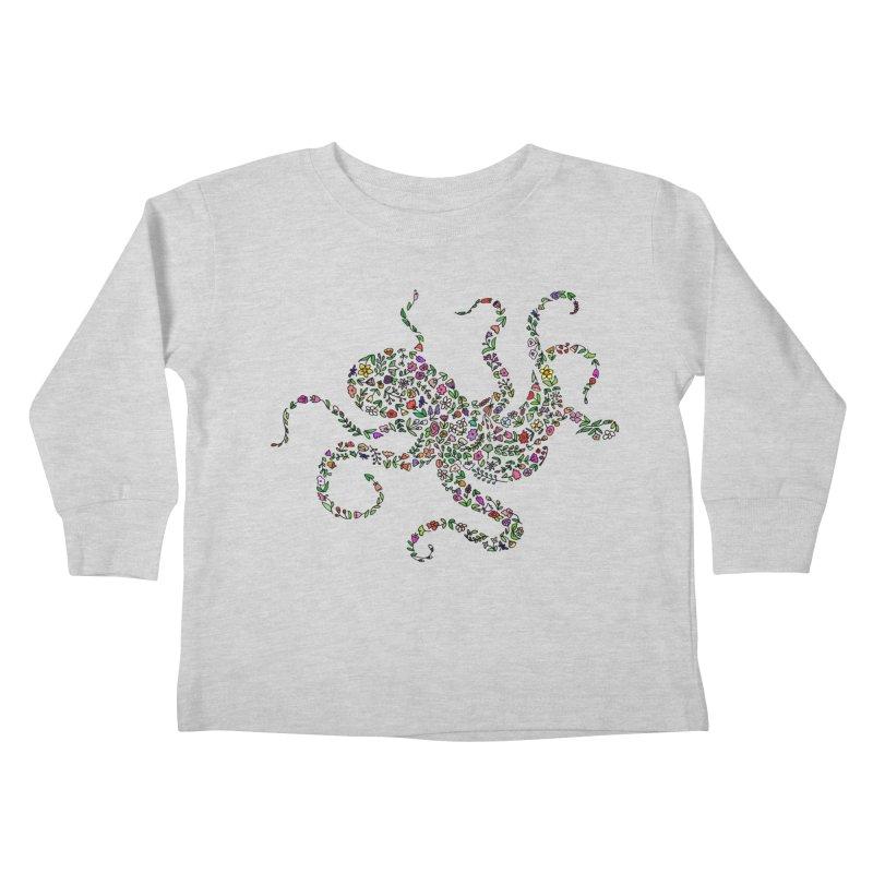 Floral Octopus Kids Toddler Longsleeve T-Shirt by LadyBaigStudio's Artist Shop