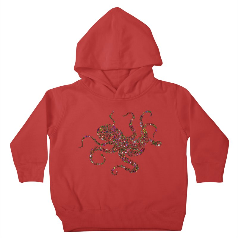 Floral Octopus Kids Toddler Pullover Hoody by LadyBaigStudio's Artist Shop