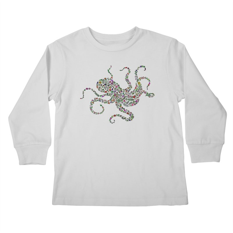 Floral Octopus Kids Longsleeve T-Shirt by LadyBaigStudio's Artist Shop