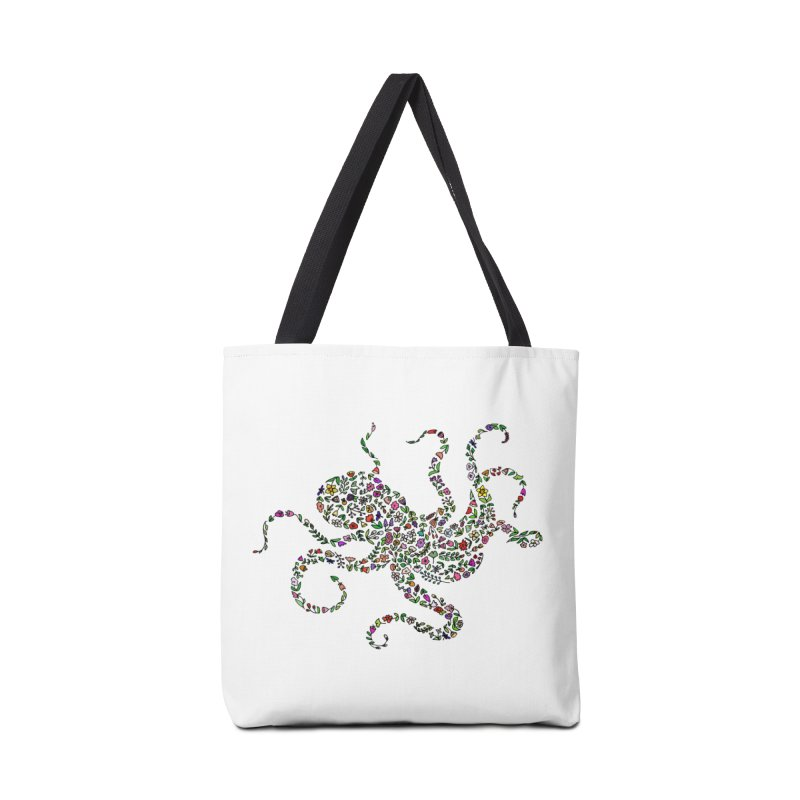 Floral Octopus Accessories Bag by LadyBaigStudio's Artist Shop