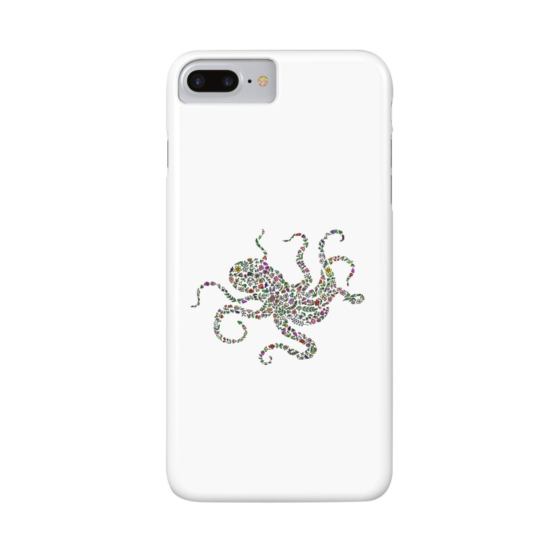 Floral Octopus Accessories Phone Case by LadyBaigStudio's Artist Shop