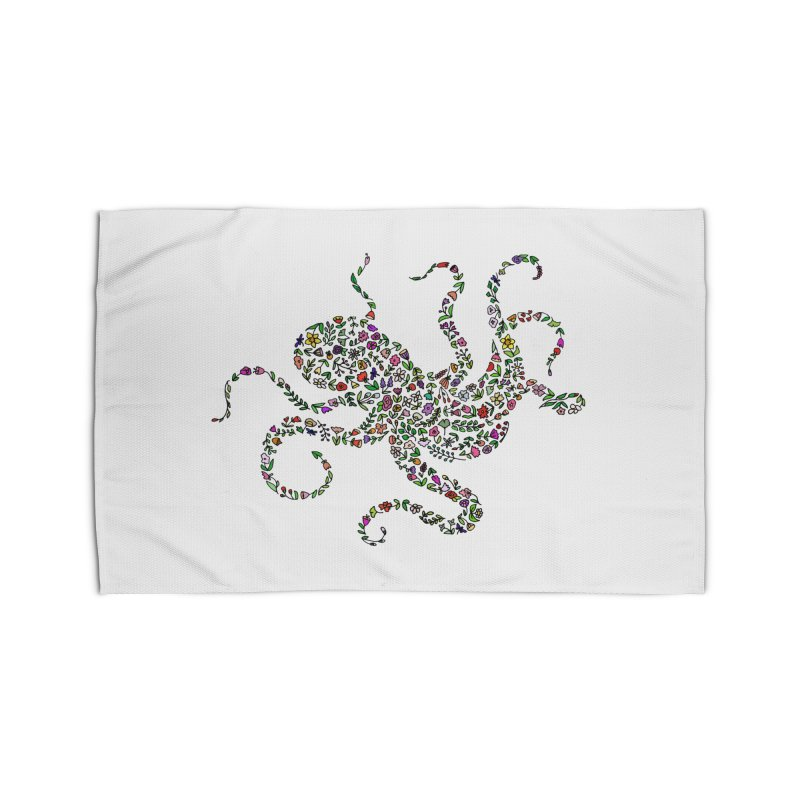 Floral Octopus Home Rug by LadyBaigStudio's Artist Shop